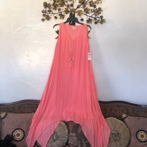 Style & CO peach / salmon colored  summer dress.
